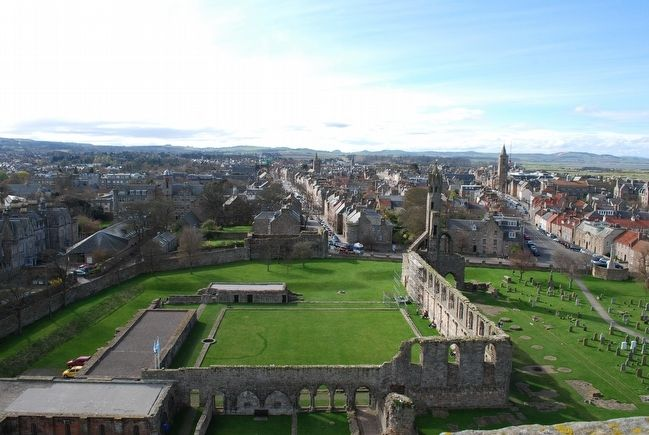 St Andrews Cathedral from atop St. Rule's Tower image. Click for full size.