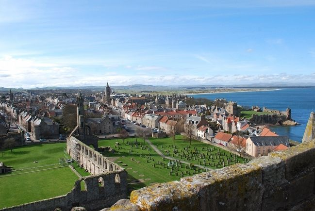 View of St Andrews from atop of St Rule's Tower image. Click for full size.