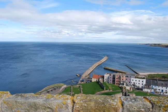 View of North Sea from atop of St Rule's Tower image. Click for full size.