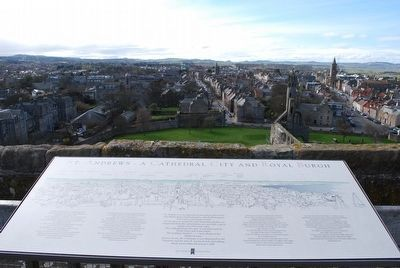 Sign atop St Rule's Tower image. Click for full size.