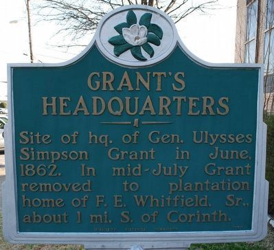 Grant's Headquarters Marker (refurbished) image. Click for full size.