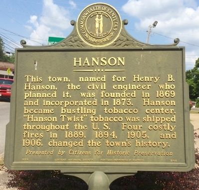 Hanson Marker image. Click for full size.