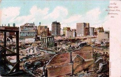 <i>Scene After the Great Fire, Baltimore, Md.</i> image. Click for full size.