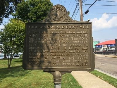 Audubon Saw and Grist Mill Marker image. Click for full size.