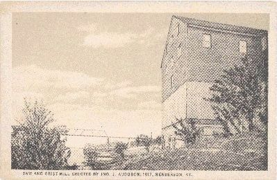 Audubon Saw and Grist Mill -1817 image. Click for full size.