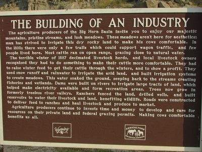 The Building of an Industry Marker image. Click for full size.