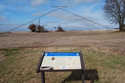 The Battle of Spring Hill Marker & Columbia Turnpike image. Click for full size.