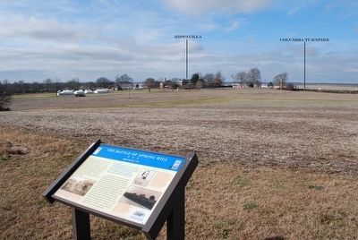 The Battle of Spring Hill Marker image. Click for full size.