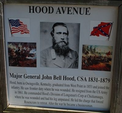 Hood Avenue Marker image. Click for full size.