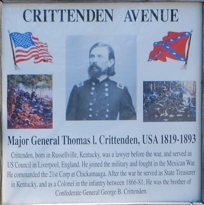 Crittenden Avenue Marker image. Click for full size.