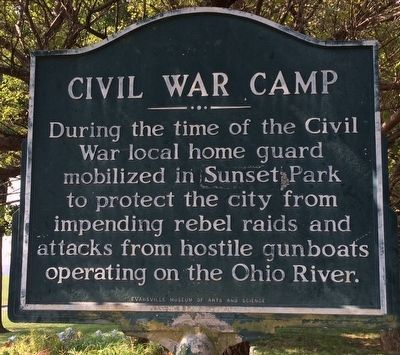 Civil War Camp Marker image. Click for full size.