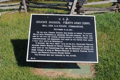 Couch's Division, Fourth Army Corps Marker image. Click for full size.