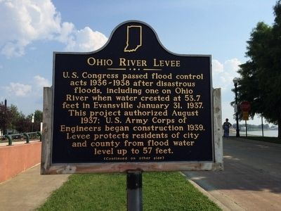Ohio River Levee Marker (Side 1) image. Click for full size.