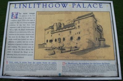 Linlithgow Palace Marker image. Click for full size.