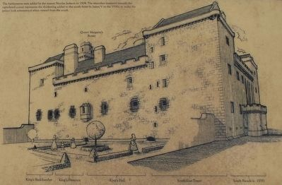 Close up of the picture on the Linlithgow Palace Marker image. Click for full size.