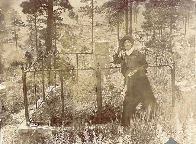 <i>Calamity Jane on Wild Bill&#39;s grave</i> image. Click for full size.