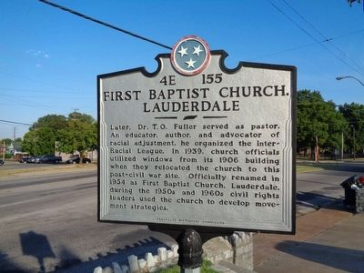 First Baptist Church, Lauderdale Marker image. Click for full size.