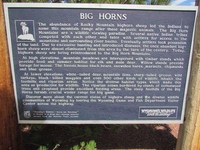 Big Horns Marker image. Click for full size.