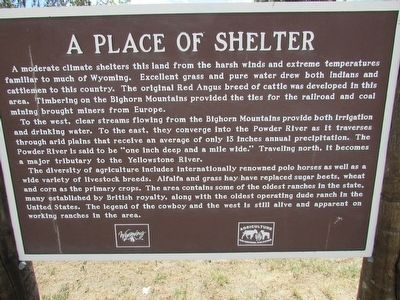 A Place of Shelter Marker image. Click for full size.