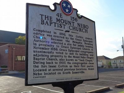The Mount Nebo Baptist Church Marker image. Click for full size.