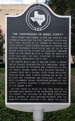 The Courthouses of Gregg County Marker image. Click for full size.