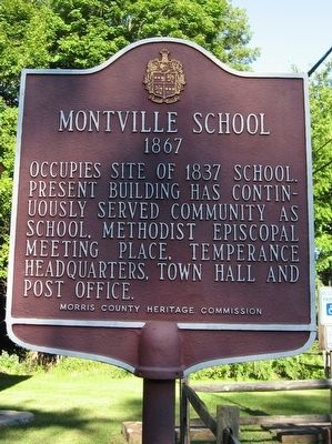 Montville School Marker image. Click for full size.