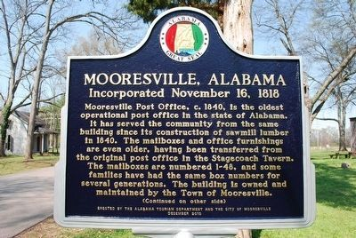 Mooresville, Alabama Marker image. Click for full size.