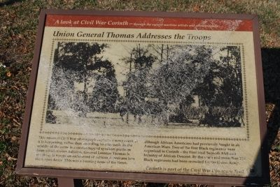 Union General Thomas Addresses the Troops Marker image. Click for full size.