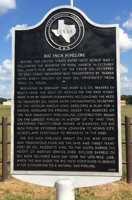 Big Inch Pipeline Marker image. Click for full size.