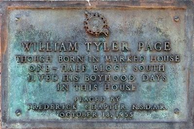 William Tyler Page Marker image. Click for full size.