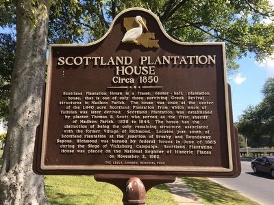Scottland Plantation House Marker image. Click for full size.