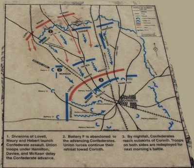 Battle of Corinth Battery F Marker Map image. Click for full size.