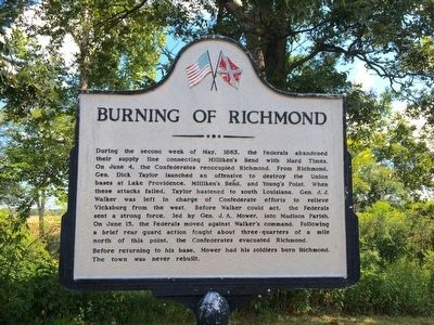 Burning of Richmond Marker image. Click for full size.