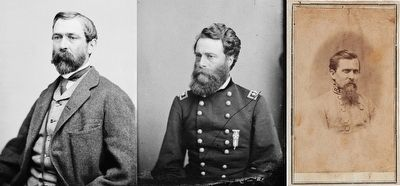 Generals Taylor, Mower & Walker. image. Click for full size.