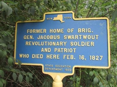 Gen. Swartwout Home Marker image. Click for full size.
