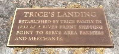 Trice's Landing Marker image. Click for full size.
