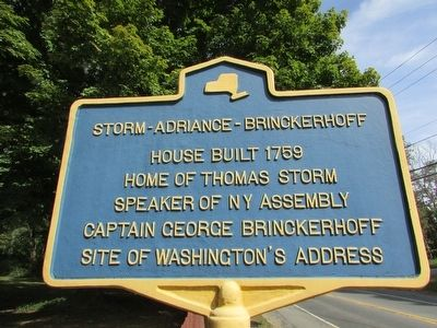 Storm – Adriance - Brinckerhoff Marker image. Click for full size.