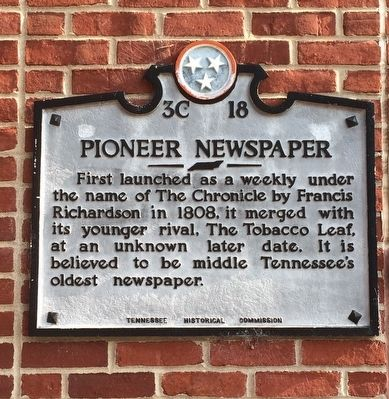 Pioneer Newspaper Marker image. Click for full size.