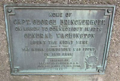 Home of Capt. George Brinckerhoff Marker image. Click for full size.