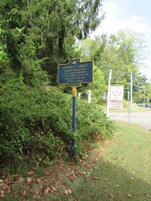 Hopewell Hamlet Marker image. Click for full size.