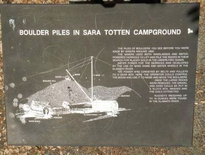 Boulder Piles in Sara Totten Campground Marker image. Click for full size.