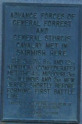 Advance Forces of General Forrest Marker image. Click for full size.