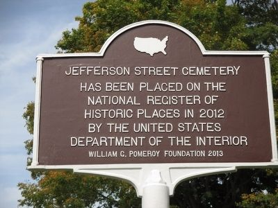 Jefferson Street Cemetery Marker image. Click for full size.