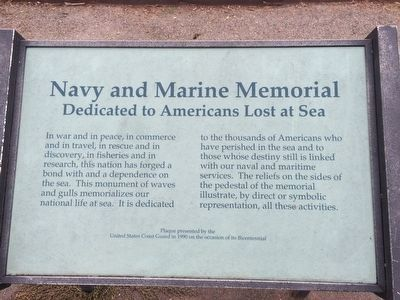 Navy and Marine Memorial Marker image. Click for full size.