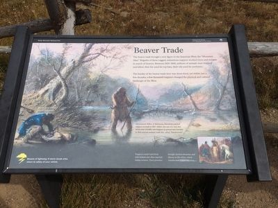 Beaver Trade marker near Lake Poudre. image. Click for full size.