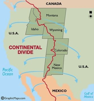 Map showing Continental Divide image. Click for full size.
