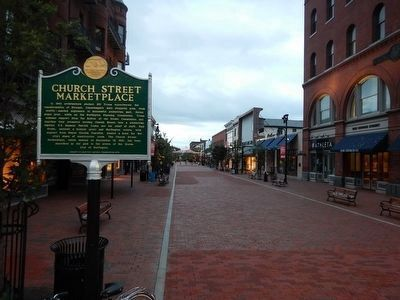 Church Street Marketplace and Marker image. Click for full size.