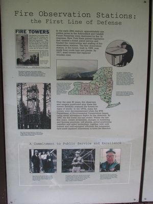 Fire Observation Stations: the First Line of Defense image. Click for full size.