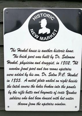 The Henkel House Marker image. Click for full size.