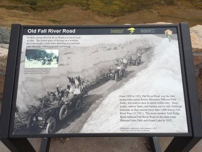 Old Fall River Road Marker image. Click for full size.